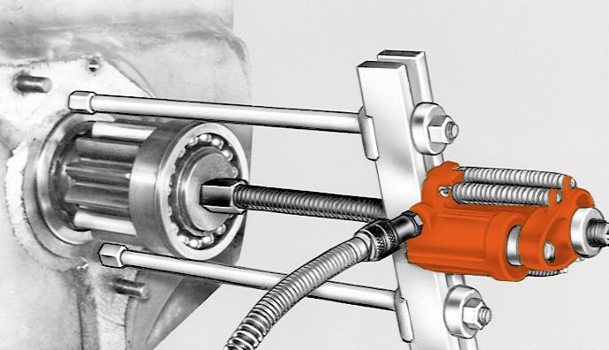 Hydraulic Fishing Pullers : Hydrotools hydraulic push pullers