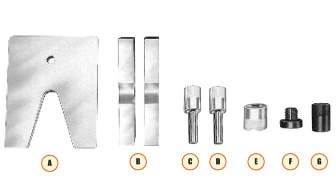 Press Accessory Kits - V-Throat, V-Blocks, Pushing Adapters, V-Pushing Adapters, Single/Double Acting Cylinders