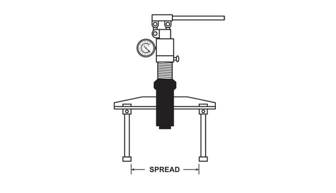 Bearing Puller Diagram : Hydrotools manual hydraulic pusher